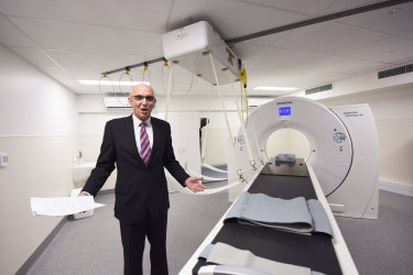 Attorney General John Quigley during the official opening of PathWest's new CT scanner.