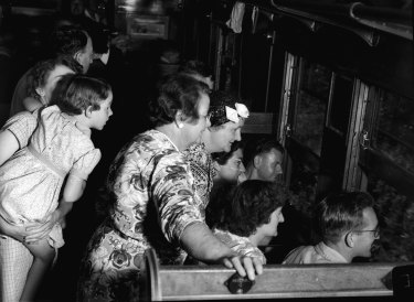 Passengers en route to Robertson on February 8, 1953.