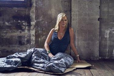 Skye Leckie hits the cardboard mattress in <i>Filthy Rich & Homeless</i>.