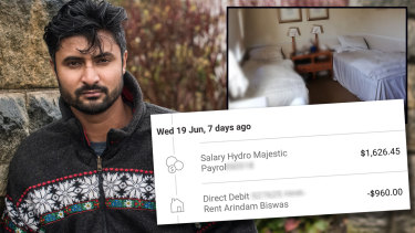 Arindam Biswas who worked as a desk clerk at the Hydro Majestic in the Blue Mountains.