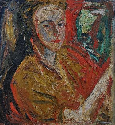 Danila Vassilieff, Lizaveta at Stonygrad by firelight, 1947, oil on canvas.