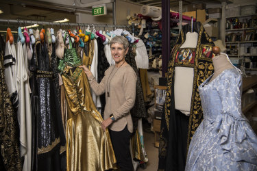 Saying goodbye to favourites: costume designer Lyn Heal.