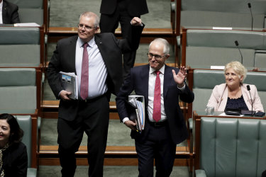 Morrison and Turnbull arriving for QT.