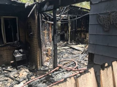 A kitchen fire gutted a Duffy home on Thursday