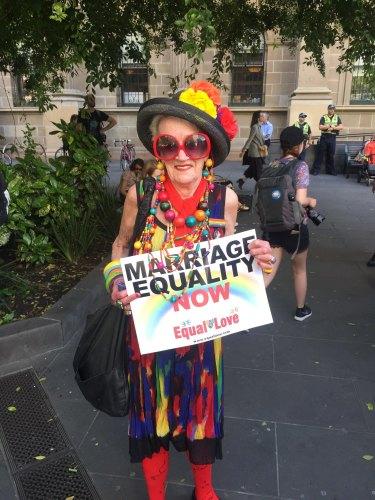 Yvonne Gardner at the celebrations in Melbourne.