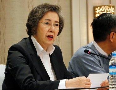 Yanghee Lee, UN special rapporteur to Myanmar.