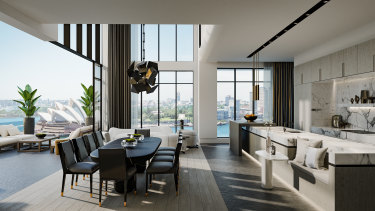 An artist's impression of the $35 million penthouse in the Sirius building.