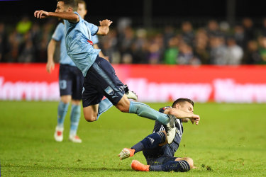 Barbarouses' foul on Michael Zullo left the Sydney FC defender with a shoulder injury ahead of the grand final.