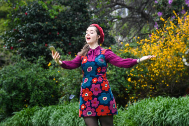 "Erin Absolom is one of the performers of the ""telephone opera"" <i>To My Distant Love</i>."