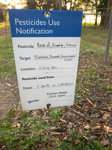 Roundup is among the chemicals being used by WaterNSW near the Fitzroy Falls in the Southern Highlands catchment area, south of Sydney.