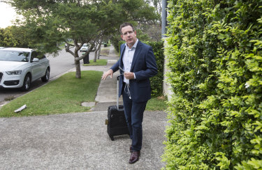 Will Easton, who runs Facebook in Australia and New Zealand, outside his home on Wednesday.