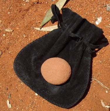 One of thousands of ''sorry rocks'' returned to Uluru by guilt-ridden tourists who have experienced bad luck.