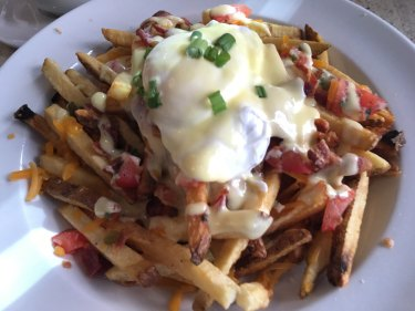 Just one of the ways to serve up Quebec City's poutine dishes.