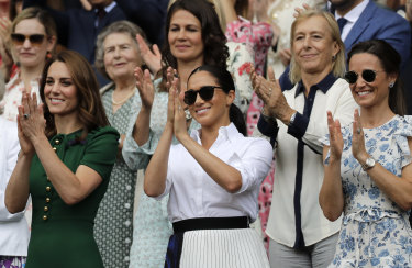 The Duchess of Cambridge, the Duchess of Sussex and Pippa Matthews at the tennis.