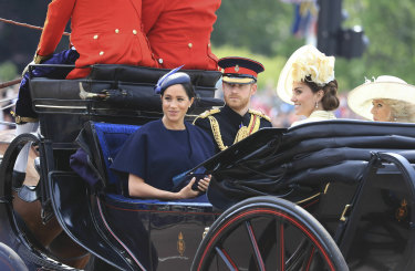 Prince Harry, his wife and the Duchess of Cambridge and Camilla Duchess of Cornwall attended the annual event.