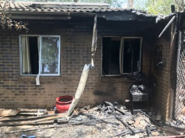 The fire caused extensive damage to the rear of the property