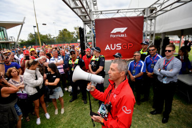 After Professor Sutton issued his advice, race organisers cancelled the Australian Grand Prix.