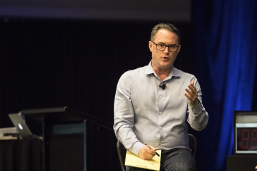 John McGrath spoke to 1000 agents at the Kickstart 2018 conference  in Sydney on Tuesday.