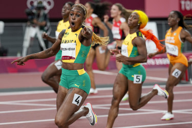 McAvaney was on fire during his call of the women's 100m final, won by Elaine Thompson-Herah.