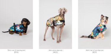 Gorman's 2018 range of dog coats.