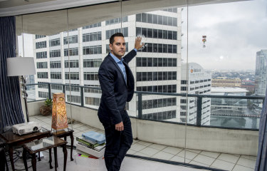 Alex Greenwich, the independent member for Sydney, said a tower proposed as part of the Cockle Bay redevelopment would block views from apartments in the Astoria Building.