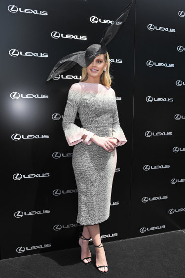 Royal flush ... Lady Kitty Spencer's Stephen Jones hat was the best of the day.