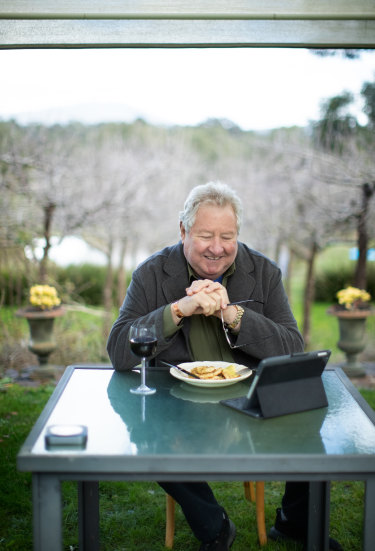 John Wood at his home in the Yarra Valley.