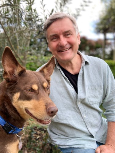 Clancy and his owner Richard Glover.