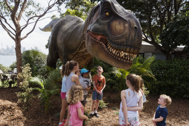 A Tyrannosaurus rex is one of animatronic dinosaurs that will be displayed at Taronga Zoo as part of its Rise of the Tarongasaurs.