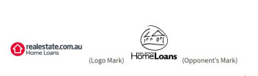The logos at the centre of the trademarks objection case.