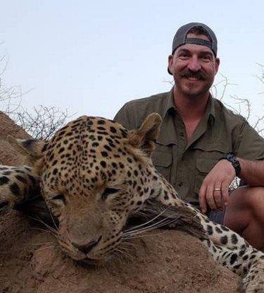Blake Fischer shot a leopard in Namibia.