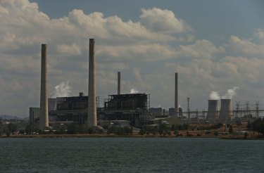 AGL's Liddell power station next to Lake Liddell, its main source of water.