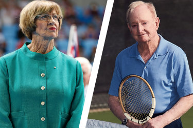 Margaret Court and Rod Laver.
