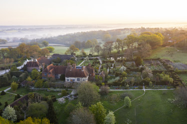 Great Dixter as it sits in the wider landscape