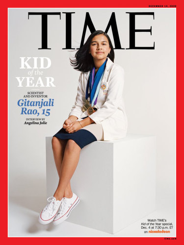 """Colorado high school student and young scientist Gitanjali Rao who has been named Time magazine's first-ever """"Kid of the Year."""""""