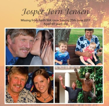 Jesper Jensen's missing persons poster that will be included at the Leave A Light On event.