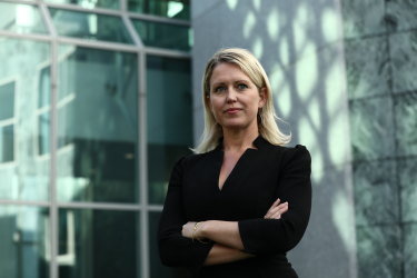 Julian Assange's lawyer Jennifer Robinson at Parliament House in July.