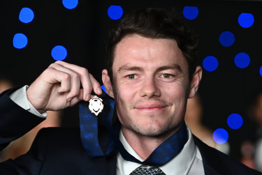 This year's winner, Lachie Neale.