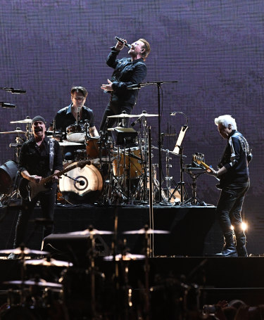 """Are you ready to be updated, to be infatuated?"" asked Bono as U2 sang some of their hits after The Joshua Tree album."