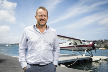 Sydney Seaplanes' chief executive Aaron Shaw hopes to introduce the first all-electric plane to his fleet by early 2023.