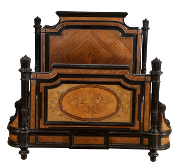 A late 19th century Napoleon III bed sold for $9,000, three times its quoted amount.