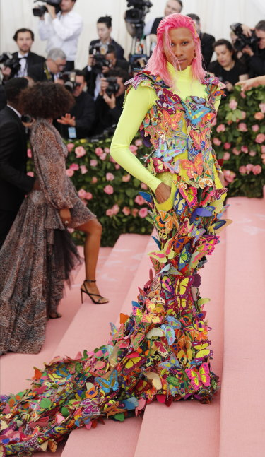 "Keiynan Lonsdale arrives on the red carpet for the 2019 Met Gala, the annual benefit for the Metropolitan Museum of Art's Costume Institute, in New York, New York, USA, 06 May 2019. The event coincides with the Met Costume Institute's new spring 2019 exhibition, 'Camp: Notes on Fashion', which runs from 09 May until 08 September 2019.  EPA/JUSTIN LANE The Metropolitan Museum of Art's Costume Institute benefit gala celebrating the opening of the ""Camp: Notes on Fashion"" exhibition on Monday, May 6, 2019, in New York."
