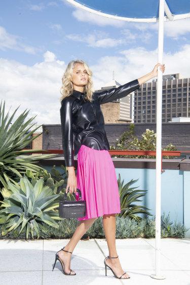 Model Bille Jean Hamlet in 'soft punk'.