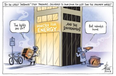 The Canberra Times editorial cartoon for Wednesday, August 8, 2018.