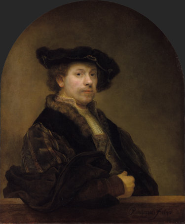 Rembrandt's Self Portrait at the Age of 34, 1640.