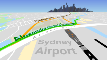The Alexandra Canal Cycleway and Airport Drive are set to close, to make way for the proposed Sydney Gateway motorway.