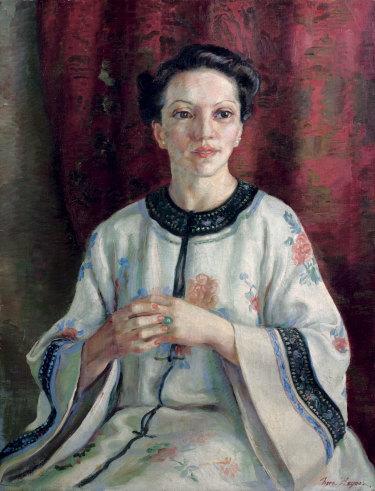 The 1938 Archibald Prize winner, Nora Heysen's  <i>Mme Elink Schuurman</i>.