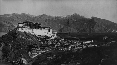 A general view of the imposing residence of the Dalai Lama, in Lhasa, the capital of Tibet.  March 5, 1953.