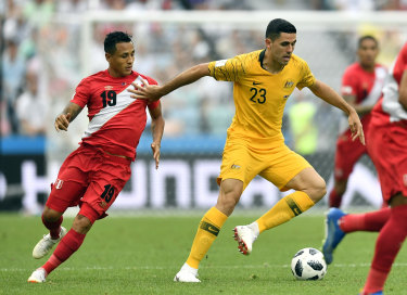 Tom Rogic in action. Does the soccer success of Canberra product Tom Rogic and a few others show there is an indefinable something about Canberra?