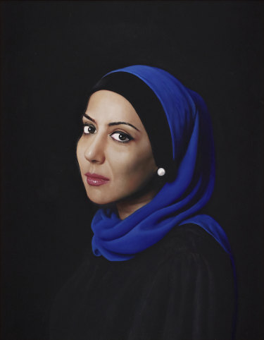 McDonald's portrait of Veiszadeh, which was a finalist in the 2019 Archibald Prize, is up for auction.